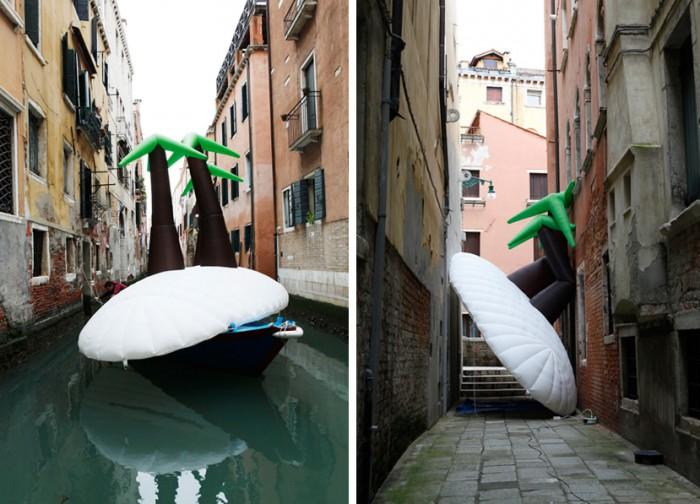 island Venice canal & narrow street